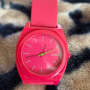 Nixon Hot Pink Time Teller Watch